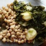 Espinacas con garbanzos y patatas Gallegas.